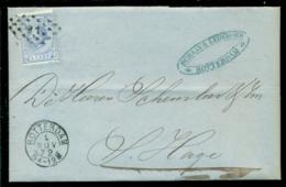 Nederland 1872 Brief Verzonden Uit Rotterdam Met Zegel NVPH 19C Met Ontvangststempels En Geen Kastje - Briefe U. Dokumente
