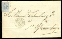 Nederland 1872 Brief Verzonden Uit Amsterdam Met Zegel NVPH 19C Met Ontvangststempels En Kastje A23 - Briefe U. Dokumente