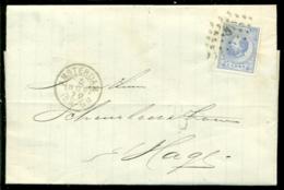 Nederland 1872 Brief Verzonden Uit Amsterdam Met Zegel NVPH 19C Met Ontvangststempels En Kastje D23 - Briefe U. Dokumente