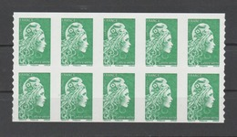 FRANCE / 2018 / Y&T N° AA 1598 ** : Marianne D'YZ (adhésif De Feuille) TVP LV X 10 - état D'origine - Adhesive Stamps