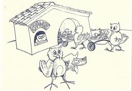Oiseaux _ Chouette _ Plusieurs Chouettes Au Bureau D'échange - Cpm - écrite - - Oiseaux