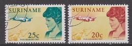Suriname 477-478 Used ; Amelia Earhart 1967 NOW SPECIAL SURINAME SALE - Suriname ... - 1975