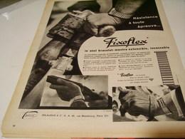 ANCIENNE PUBLICITE BRACELET MONTRE FIXOFLEX 1959 - Horloge: Luxe