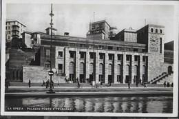 PALAZZO POSTE E TELEGRAFI  - LA SPEZIA - EDIZ. C.M. - VIAGGIATA 1938 - ANNULLO A TARGHETTA VISITATE L'ITALIA - Poste & Postini