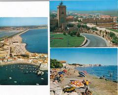 13) FOS-SUR-MER : 3 Cartes - Vue Aérienne, La Plage,enceinte Médiévale - Autres Communes