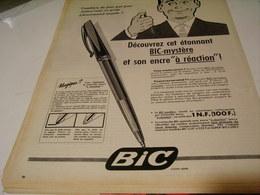 ANCIENNE PUBLICITE BIC MYSTERE STYLO  BIC 1959 - Autres