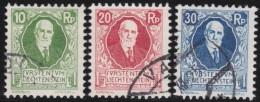 Liechtenstein    .    Yvert     .          72/74          .        O     .      Gebraucht - Liechtenstein