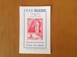 E .Projet Non Adopté.Centenaire Des Apparitions à Lourdes. - Erinnophilie
