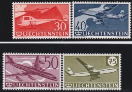Liechtenstein    .    Yvert     .       Luft   34/37      .      *    .     Ungebraucht Mit Gummi  Und Falz - Poste Aérienne