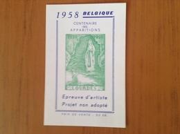 E .Projet Non Adopté.Centenaire Des Apparitions à Lourdes. - Commemorative Labels