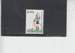 IRLANDA  1984 - Unificato 549° - Sport - Calcio - 1949-... Repubblica D'Irlanda