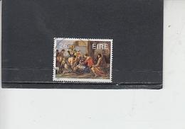 IRLANDA  1985 - Unificato 585° - Natale  - Arte - Pittura - 1949-... Repubblica D'Irlanda