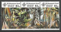 ZIL 1986- FLORA, ZILL SEYCHELLEN, 1 X 3v, MNH - Seychellen (1976-...)