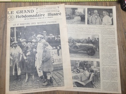 ANNEES 20/30 CIRCUIT AUTOMOBILE DES ROUTES PAVEES LILLE MICHEL DORE MOTOCYCLETTE SCRATCH LEPICARD BONNET GILLET HERSTAL - Vieux Papiers
