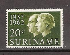 SURINAME 378 MLH; Koningin, Queen, Reine, Reina Juliana And Prins, Prince, Principe Bernard 1962 - Suriname ... - 1975