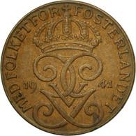 Monnaie, Suède, Gustaf V, Ore, 1941, TTB, Bronze, KM:777.2 - Suède