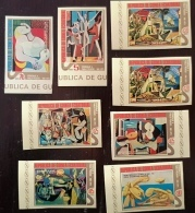 GUINEE EQUATORIALE Picasso, Peinture, Painting, Yvert N° Série 56+ PA 41 ** NON DENTELE. MNH, Imperforate - Picasso