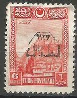 Turkey - 1927 Smyrna Exhibition 6k MH *     Mi 862  Sc 653 - Unused Stamps