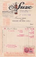 69-Distillerie De La Suze Apéritif à La Gentiane    Lyon (Rhône) 1939 - Textile & Vestimentaire