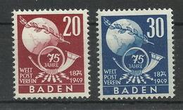 Frz. Zone Baden 56/57 ** - Zona Francesa