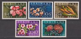 Suriname 379-383 MNH ; Bloemen, Flowers, Fleurs, Flores, Rode Kruis 1962 - Surinam ... - 1975