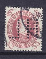 Denmark Perfin Perforé Lochung (H49) 'H L' Hans Lystrup, København (Mi. 193) 35 Øre Chr. X. - Abarten Und Kuriositäten