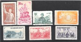 Chine - Lot Timbres 1952  Neufs Sans Gomme - 1949 - ... Volksrepublik