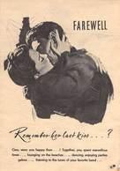 WWII WW2 German Propaganda Leaflet Tract Flugblatt, Code 11*, FAREWELL Remember Her Last Kiss?, FREE SHIPPING WORLDWIDE - Vieux Papiers