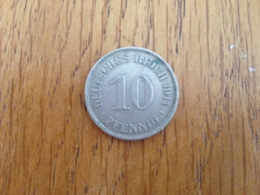 10 Pfennig 1911 E - Germany - [ 2] 1871-1918 : Empire Allemand