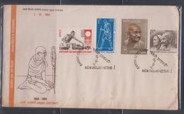 India 1969 Mahatma Gandhi Centenary FDC - Mahatma Gandhi