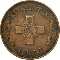 Monnaie, Malte, Cent, 1972, British Royal Mint, TTB, Bronze, KM:8 - Malte