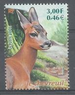 France, European Roe Deer (Capreolus Capreolus), 2001, MNH VF - Francia