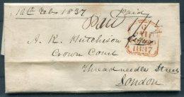 1837 GB Auckenlech Entire - Threadneedle Street, London - Great Britain