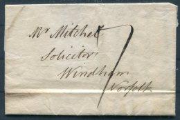 1823 GB Entire Bungay  - Windham Norfolk - ...-1840 Prephilately