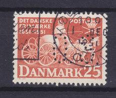 Denmark Perfin Perforé Lochung (O18) 'O.S.' Ove Skou, København (Mi. 326) (2 Scans) - Abarten Und Kuriositäten