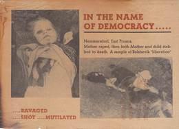 WWII WW2 German Propaganda Leaflet Tract Flugblatt, IN THE NAME OF DEMOCRACY...,  FREE SHIPPING WORLDWIDE - Old Paper