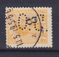 Denmark Perfin Perforé Lochung (O03) 'O.C.' Det Oversøiske Compagnie, København (Mi. 97) (2 Scans) - Abarten Und Kuriositäten