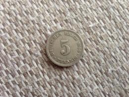 5 Pfennig 1906 D - Germany - [ 2] 1871-1918 : Imperio Alemán