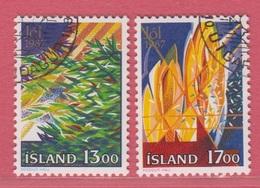 1987  Islande  (gest./obl./used)  Yv  631/2Mi  678/9FA  715/6 - 1944-... Republik
