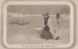 Illustrateurs - English Artist - Eros Cupidon Amour - Glace Lac Gelé - Femme Mode - Postmarked Woking 1910 - Illustrateurs & Photographes