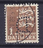 Denmark Perfin Perforé Lochung (D04) 'D.' Dansk Handels- Og Industri Co., København (Mi. 289y) (2 Scans) - Abarten Und Kuriositäten