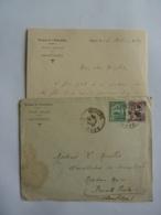 AUTOGRAPHES  TROUPES DE L'INDOCHINE  ETAT MAJOR HONOI Postes R. F. CACHET A DATE HANOI RF TONKIN 2 Clas 3 - Indochine (1889-1945)