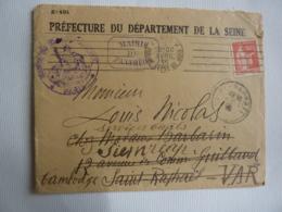 Oblitération Mécanique, Machine R.B.V. Avec Bloc Dateur, CACHET SAINT RAPHAEL- CACHET A DATE SIEMREAP DAGUIN CAMBODGE - Postmark Collection (Covers)