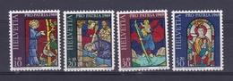 1969 Svizzera Switzerland HELVETIA PRO PATRIA Serie Di 4v. MNH** Vetrate - Pro Patria