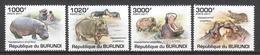 Burundi 2011 Mi 1982-1985 MNH HIPPO - Rhinozerosse