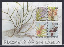 Sri Lanka 1984 Orchids S/S MNH - Sri Lanka (Ceylon) (1948-...)