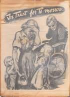 WWII WW2 German Propaganda Leaflet Tract Flugblatt, Code BWK-09-39, In Trust For Tomorrow,  FREE SHIPPING - Old Paper