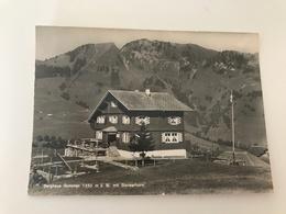 Carte Postale Ancienne Gummen Berghaus Mit Stanserhorn Kat. Gummen - Suisse