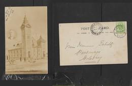 S.Africa, Church Being Built, Insert Of Pastor, Used 1907  FICKSBURG > COLESBERG - Afrique Du Sud