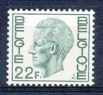 [151849] **/Mnh-[1945] Belgique 1979, 22F Vert, Type Elstrom, SNC - 1970-1980 Elström
